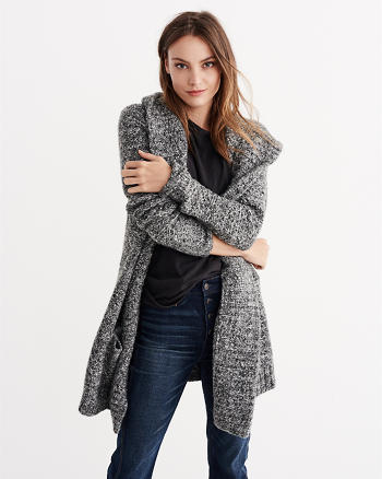 ANF Textural Oversized Cocoon Cardigan