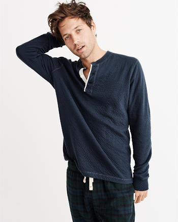 ANF Long-Sleeve Lounge Henley