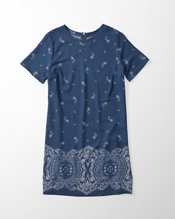 ANF Printed Crepe T-Shirt Dress