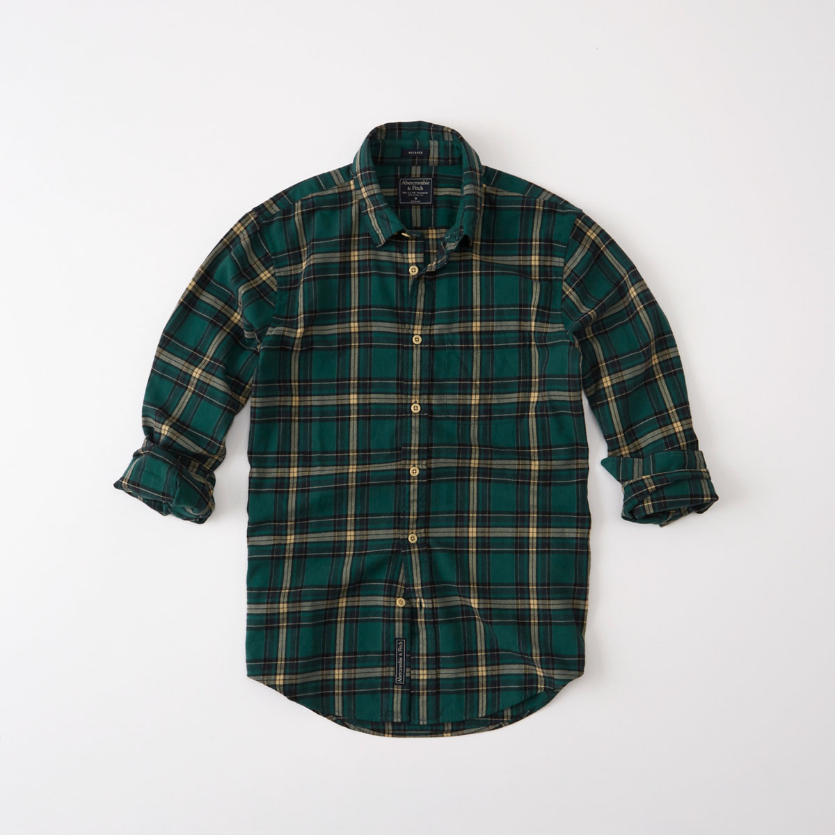 Relaxed Fit Washed Flannel Shirt