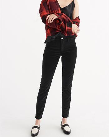 ANF Black Velvet Super Skinny Jeans