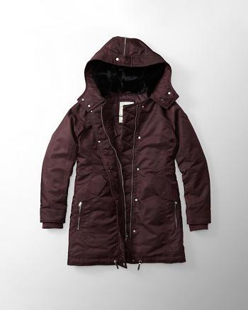 ANF Shiny Parka Puffer Jacket