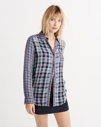 ANF Plaid Mix Shirt