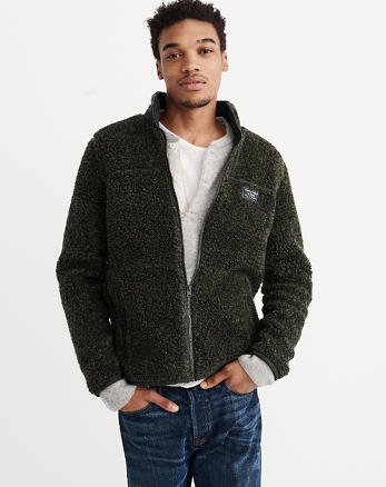 ANF Sherpa Full-Zip Jacket