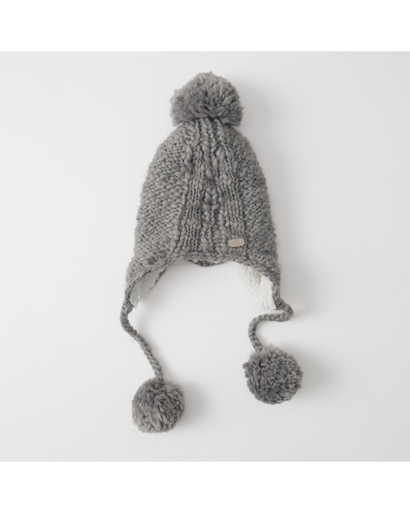 Knit And Purl Pattern : Womens Knit Trapper Hat Womens Accessories & Jewelry Abercrombie.com