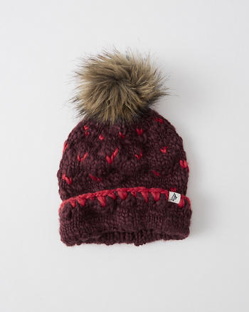 ANF Patterned Pom Beanie