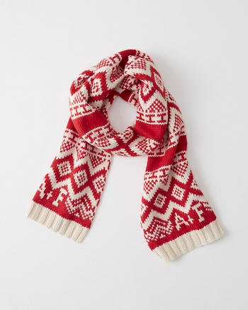 ANF Logo Patterned Scarf