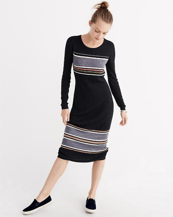 ANF Ribbed Midi Bodycon Dress