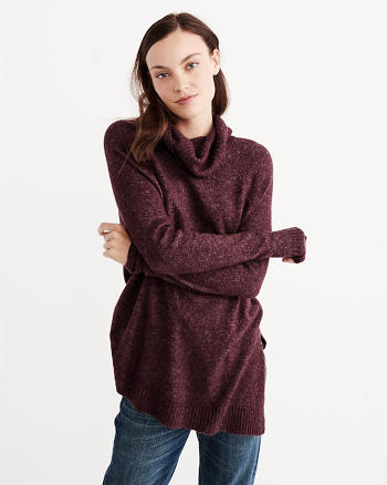 ANF Asymmetrical Turtleneck Sweater