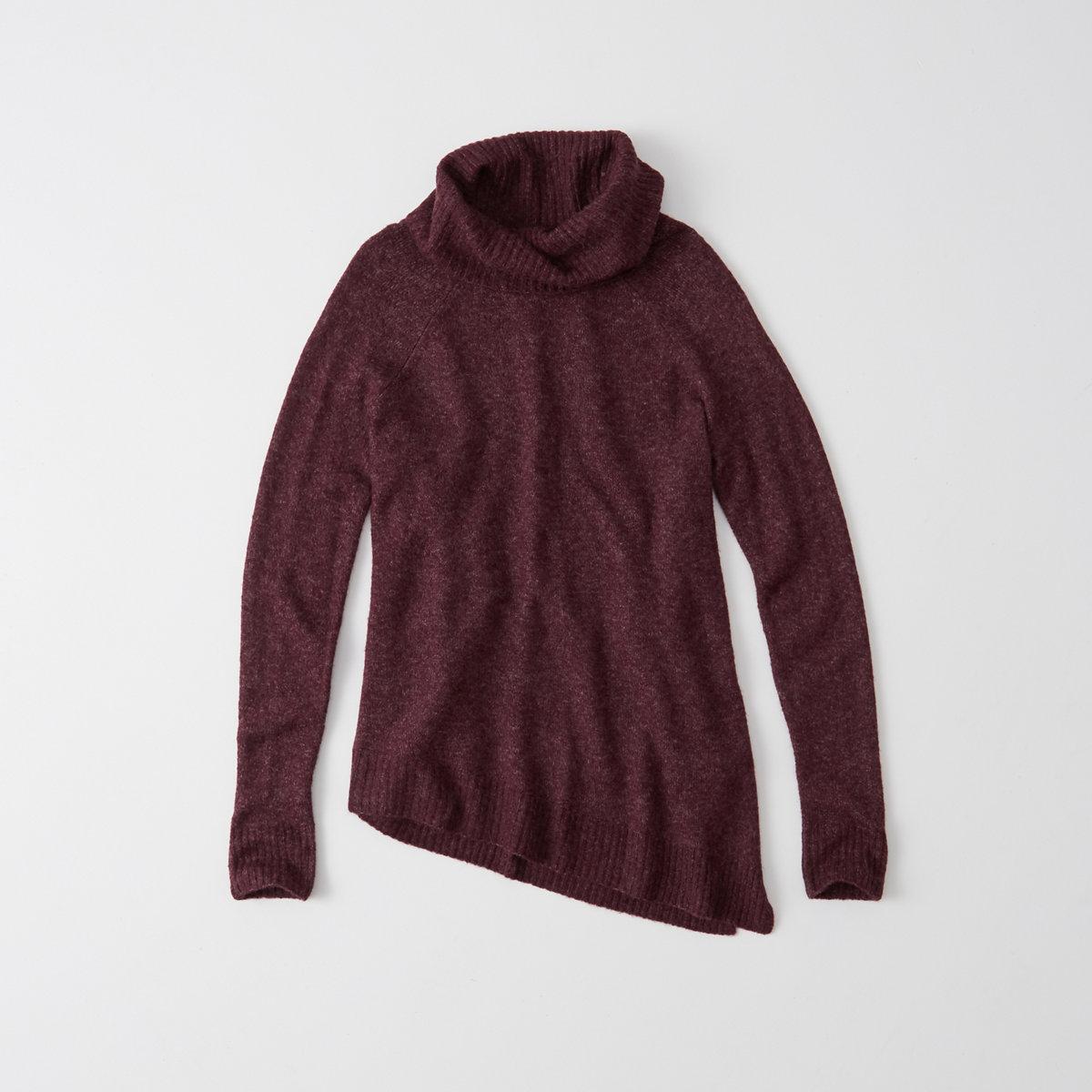 Asymmetrical Turtleneck Sweater