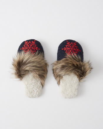 ANF Faux Fur Slippers