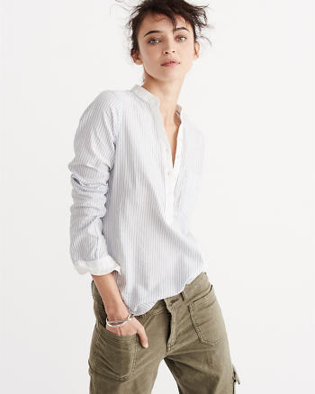ANF Slim Oxford Shirt
