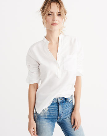 ANF Slim Oxford Shirt