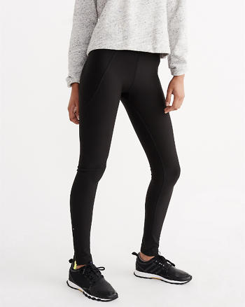 ANF Plush Zippered Running Leggings