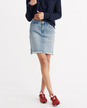 ANF Indigo Denim Pencil Skirt