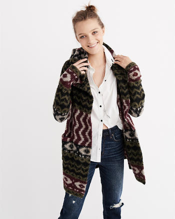 ANF Patterned Duster Cardigan