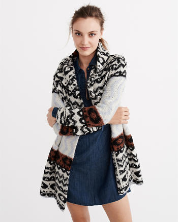 ANF Patterned Duster Coatigan