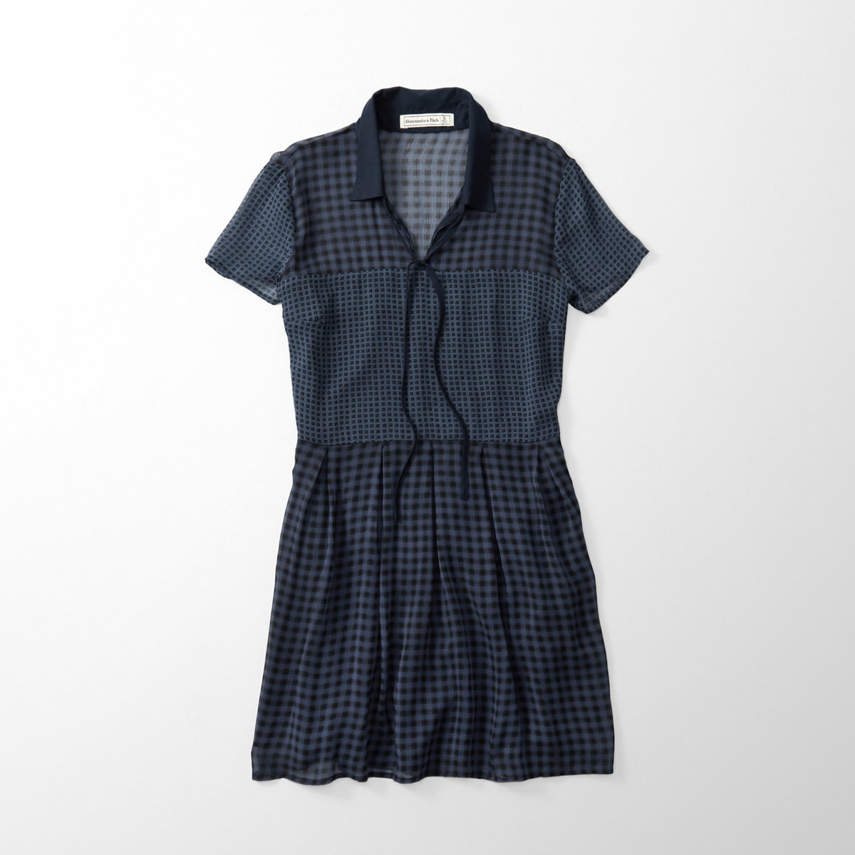 Plaid Waisted Shirtdress
