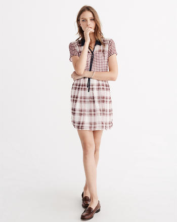 ANF Plaid Waisted Shirtdress
