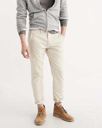 ANF Cropped Chino Pants