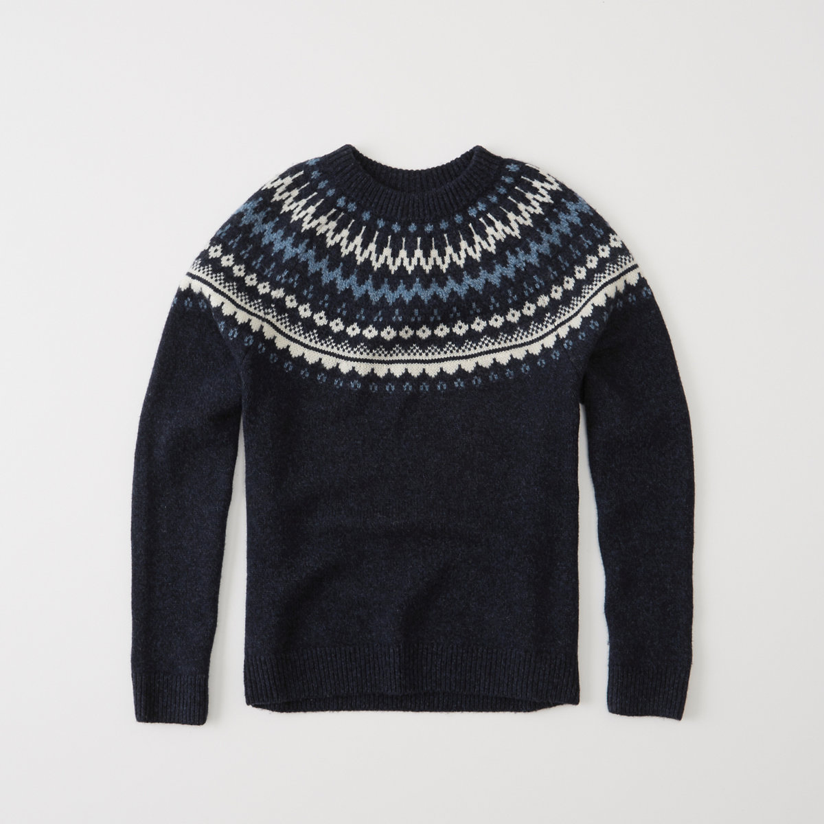Nordic Pattern Crew Sweater