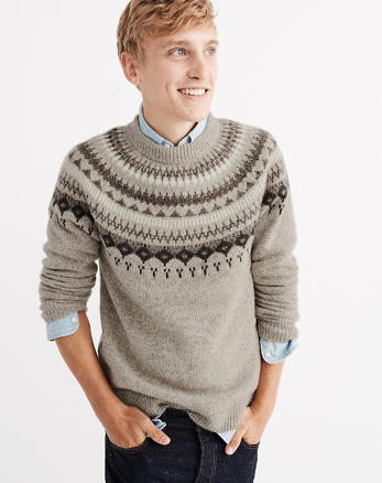 ANF Nordic Pattern Crew Sweater