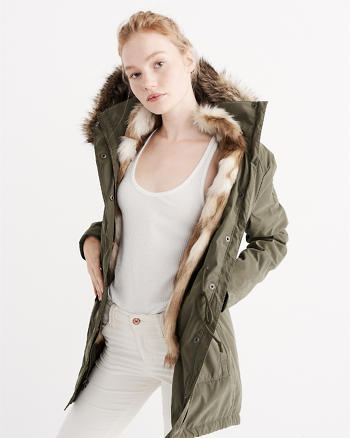 ANF Three-In-One Faux Fur Lined Parka