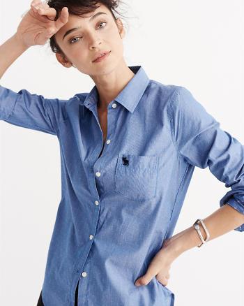 ANF Dobby Poplin Shirt