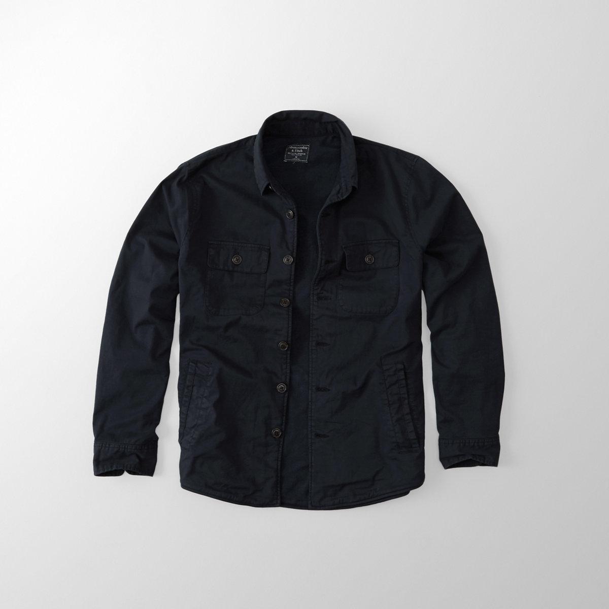 Stretch Garment Dye Shirt Jacket