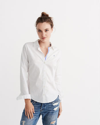 ANF Tailored Poplin Shirt