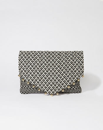 ANF Woven Clutch