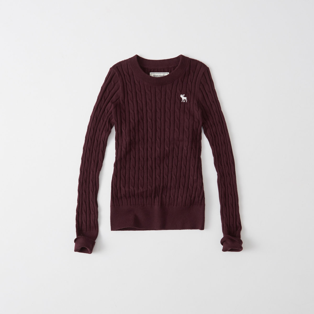 Cable Moose Crew Sweater