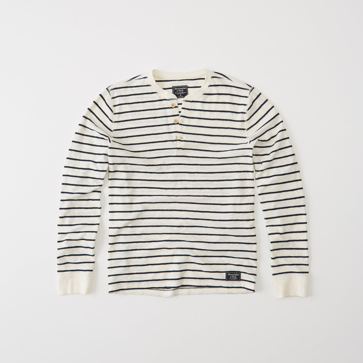 Long-Sleeve Striped Henley
