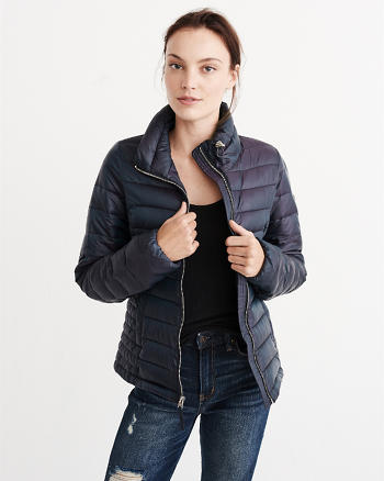 ANF Shiny Quilted Puffer Jacket
