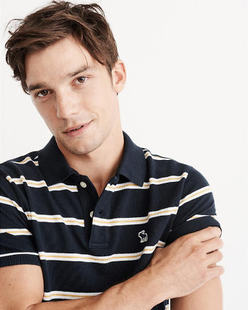 ANF Striped Icon Polo