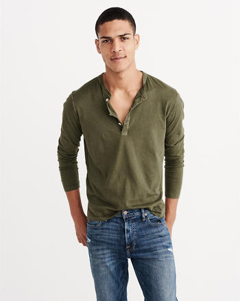 ANF Long-Sleeve Garment Dye Henley