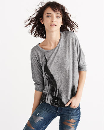 ANF Relaxed Batwing Tee