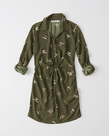 ANF Print Shirtdress