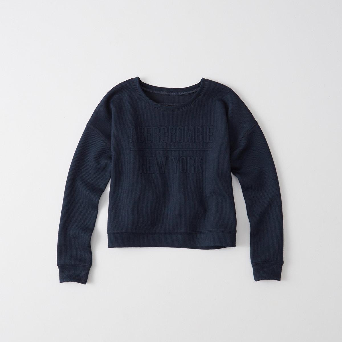 Embossed Graphic Crew Sweatshirt