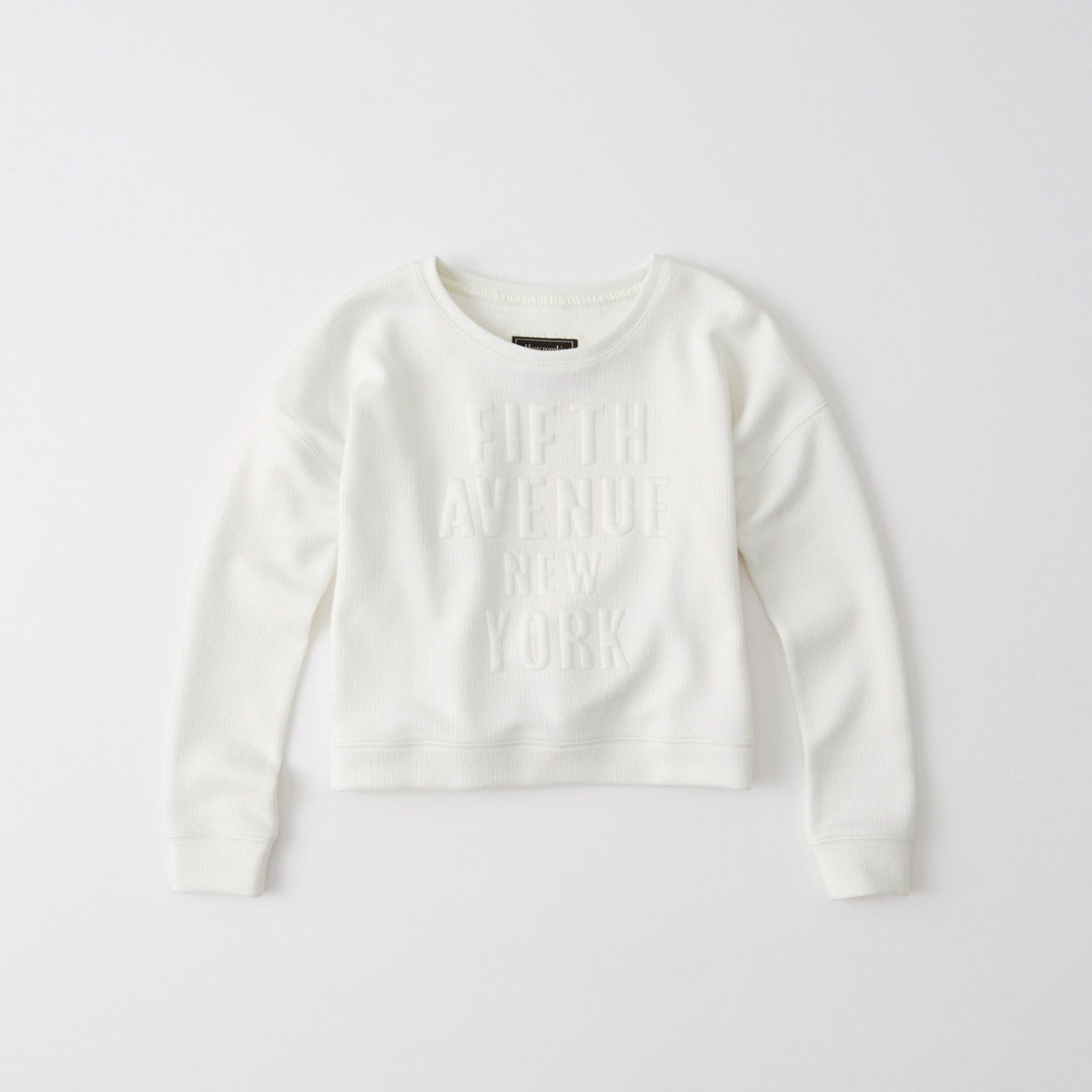 Embossed Graphic Crew Sweatshirt