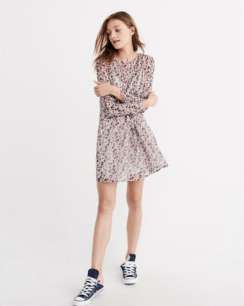 ANF Pintuck Swing Dress