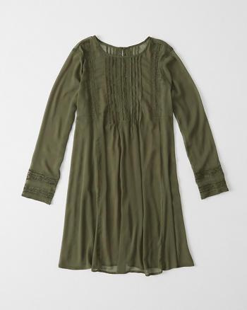 ANF Pintuck Swing Dress