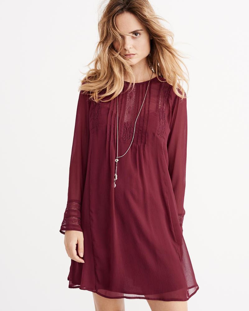 Pintuck Swing Dress