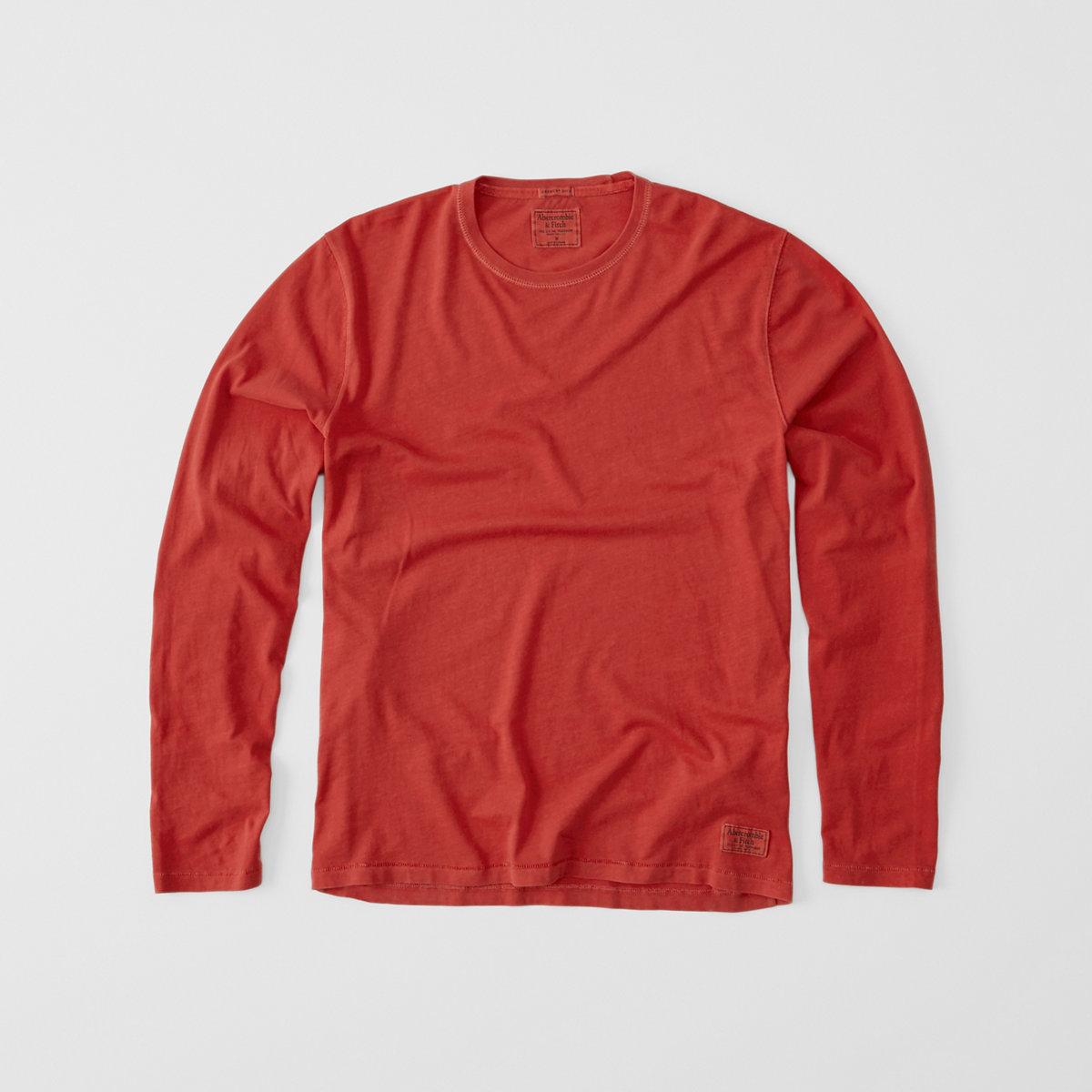 Long-Sleeve Garment Dye Tee