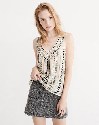 ANF Beaded Tank Top