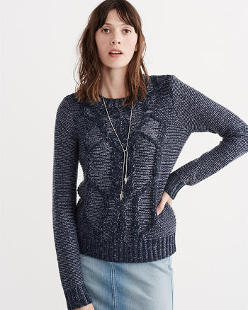 ANF Chunky Cable Crew Sweater