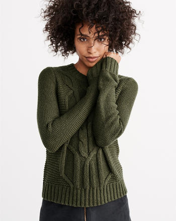 ANF Cable Crew Sweater