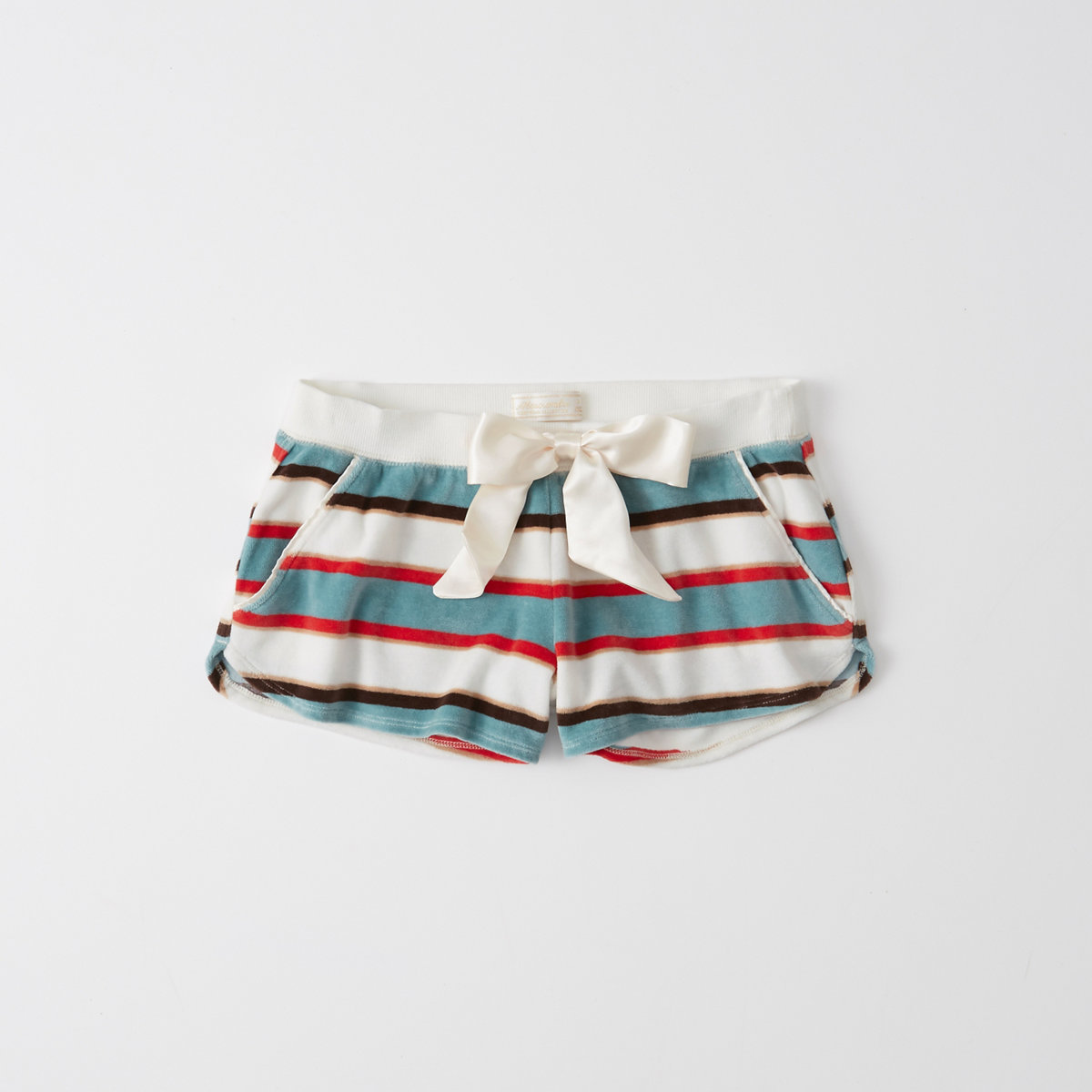 Striped Velour Sleep Shorts