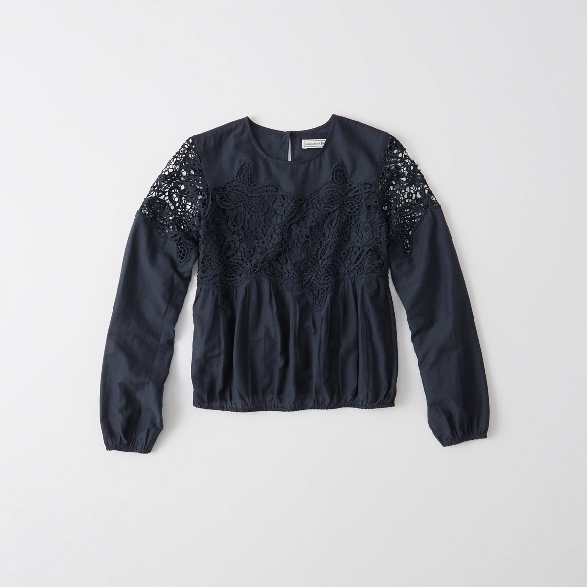 Lace-Accent Blouse