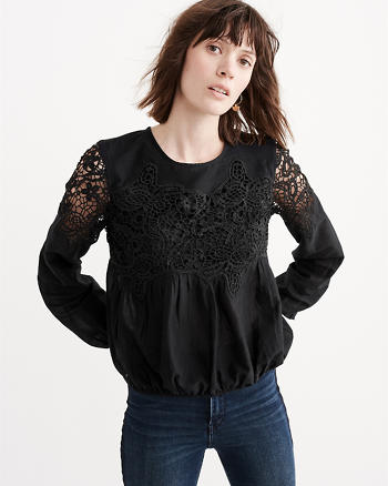 ANF Lace-Accent Blouse